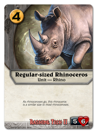 Regular-sized Rhinoceros