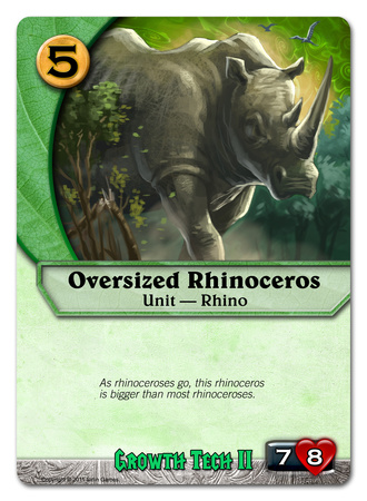 Oversized Rhinoceros